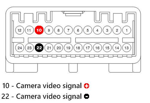 Rear-view-camera installation
