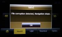 File corruption detected, Navigation stops.