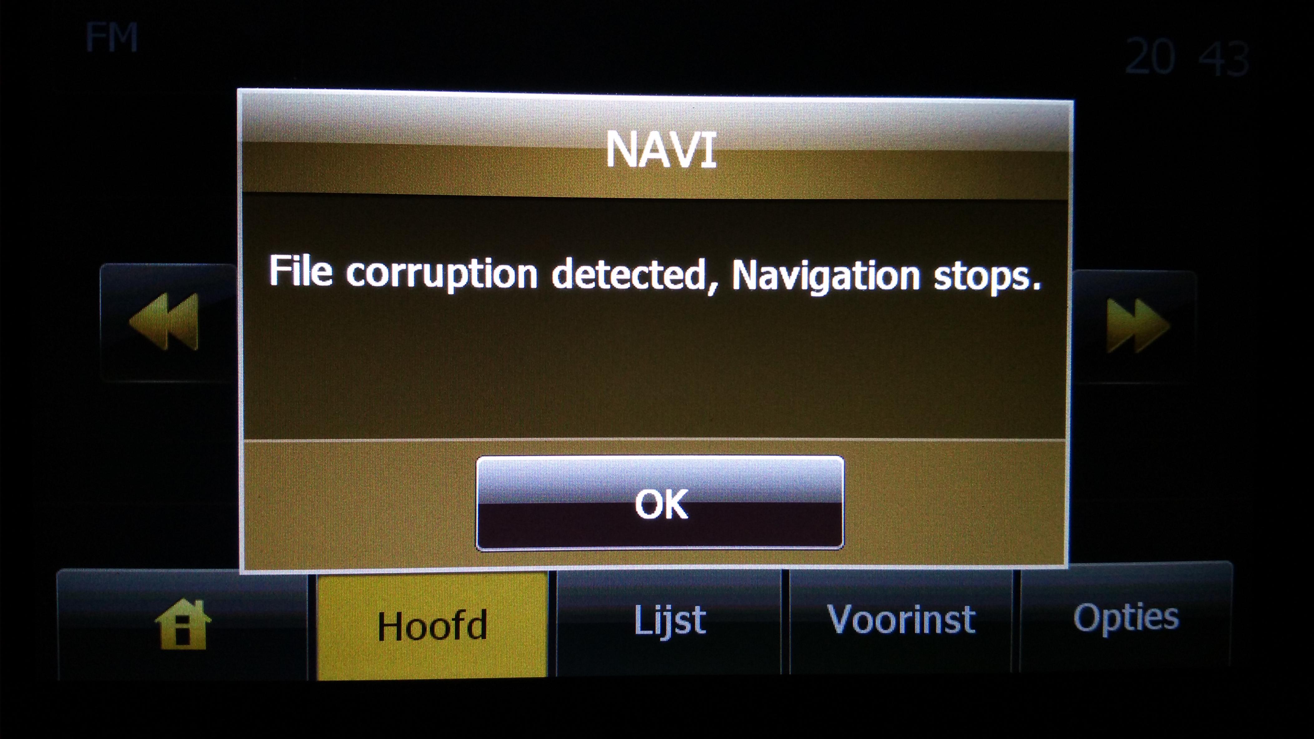 Renault Radio Code >> File corruption detected, Navigation stops. FIX! | Mena.co | Alternative Navigation: Alternative ...